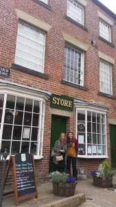 The College's Ruth Holtom and Think Global's Faaria Ahmed at the Rochdale Pioneers Museum, birthplace of the global co-operative movement