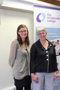 The College's Ruth Holtom with MEP Julie Ward